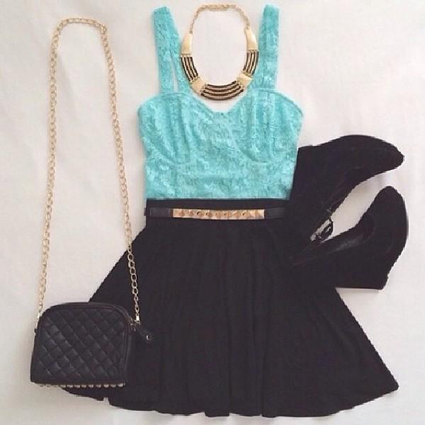 shirt skirt bag belt dress gold style short dress lace dress fashion tank top