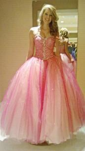 dress,pink,prom dress,poofy dress,poofy,girlfriend