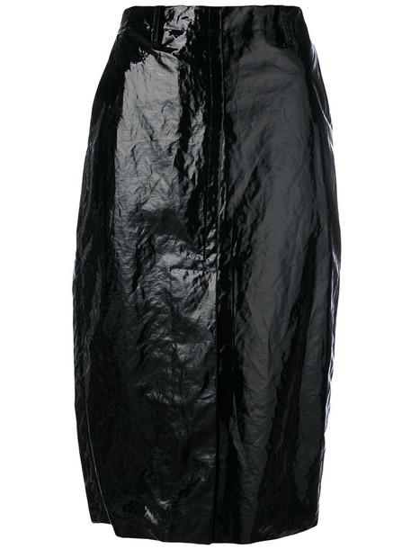 skirt pencil skirt women vinyl cotton black