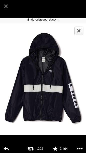 coat jacket pink windbreaker pink pink by victorias secret anorak black victoria's secret windbreaker