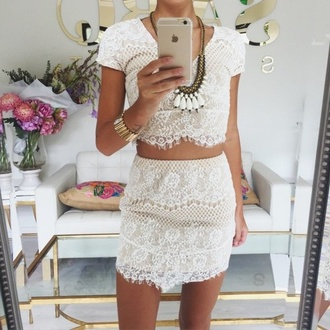 dress white lace fringe