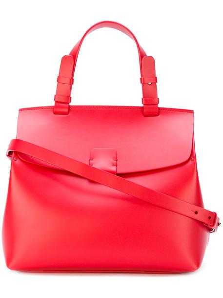 Nico Giani - Hoodia tote - women - Calf Leather - One Size, Red, Calf Leather