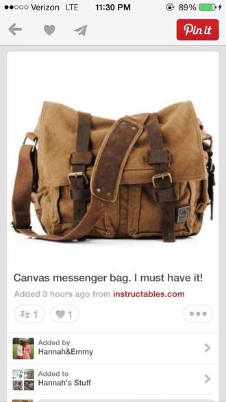 bag tan bag messenger bag long strap buckles