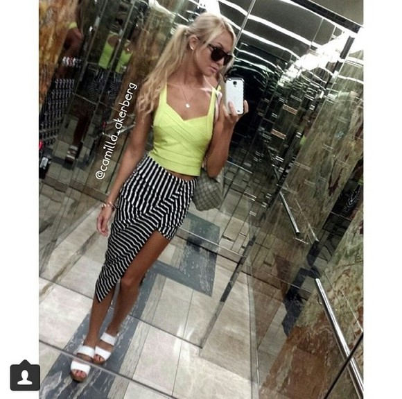 skirt shoes stripes tank top striped skirt angledskirt sunglasses