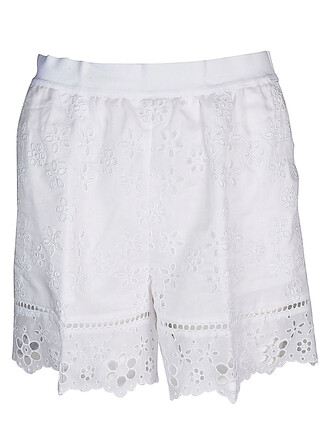 shorts cut-out white