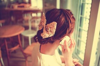 hair accessory bows hair bow romantic
