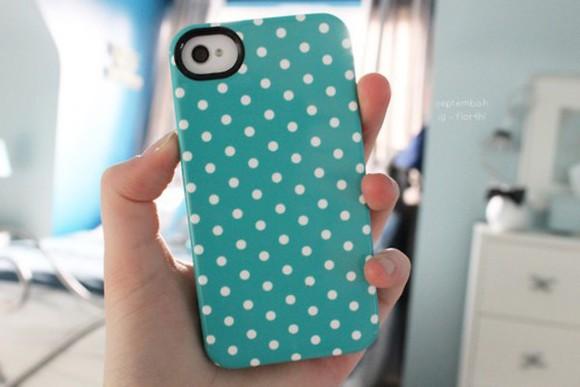 jewels dots phone case blue