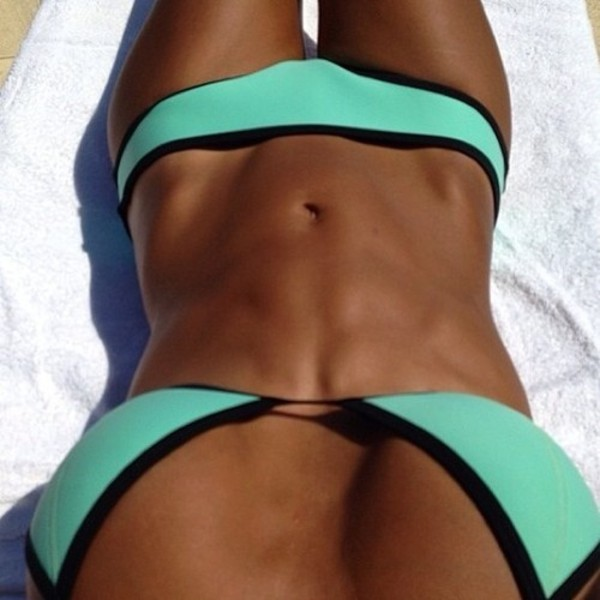 swimwear bikini neon