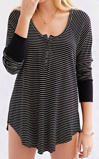 top stripes black and white b&w