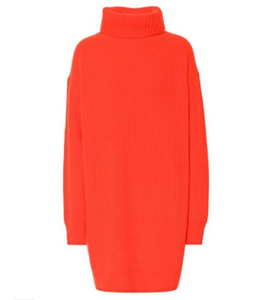 Christopher Kane Turtleneck cashmere sweater in orange