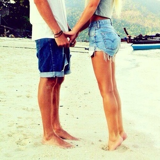shorts cut off shorts denim high-wasted denim shorts summer girly beach hot