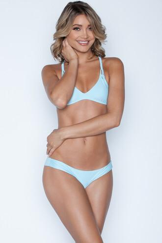 swimwear 2016 blue cheeky frankies bikini bikini luxe bikini braided blue bikini bikini top racerback strappy bikini strappy