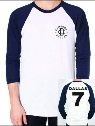cameron dallas vine boy magcon magcon boys youtuber quote on it t-shirt nash grier blue shirt white black