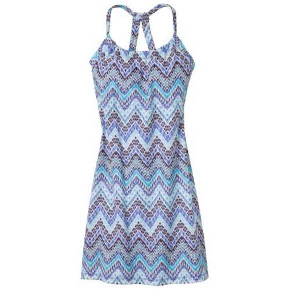 dress sundress summer blue straps tank