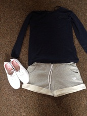 shorts,adidas shorts,jumper,shoes,grey,white,blue