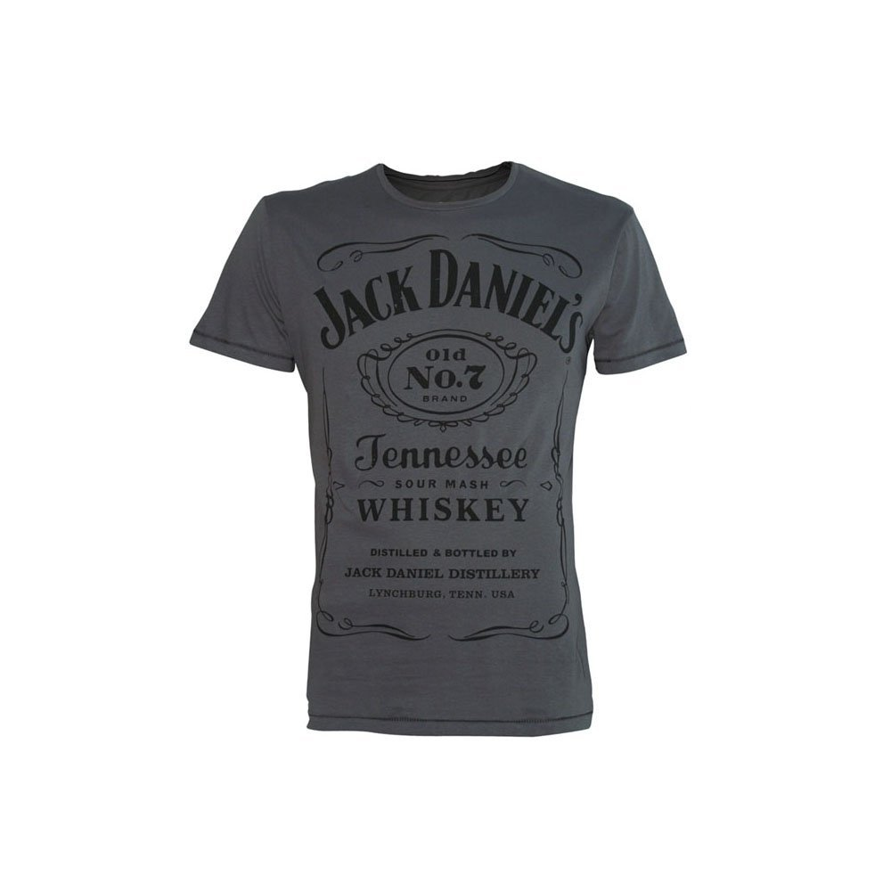 JACK DANIEL'S Classic Logo T-Shirt (L, Grey): Amazon.co.uk: Clothing
