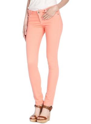 Alice   olivia salmon stretch cotton blend skinny jeans