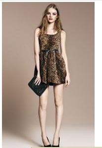 Wholesale club dresses leopard sleeveless vest leopard dress with belt plus size women clothing   Amazing Shoes UK