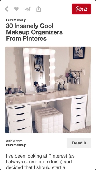 home accessory makeup table make-up desk pinterest