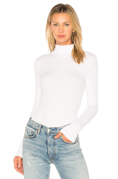 n:PHILANTHROPY Brooke Turtleneck Bodysuit in white