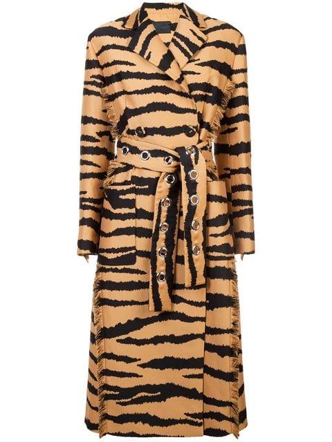 Proenza Schouler Tiger Jacquard Belted Coat - Farfetch