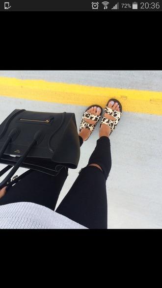 shoes leopard print sandals