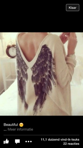 sweater feathers