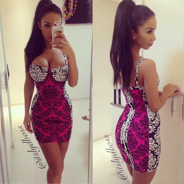 paisley bodycon dress embroidered dress pink dress