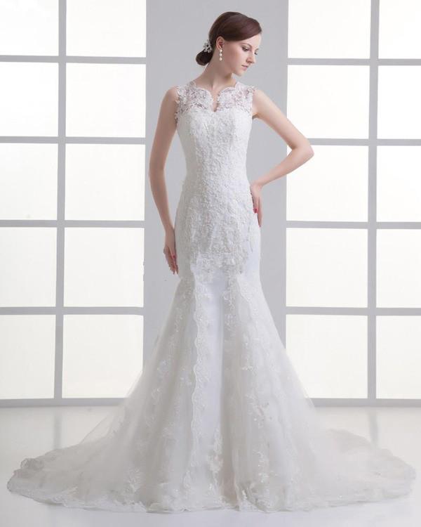 lace dress wedding dress mermaid wedding dress v neck