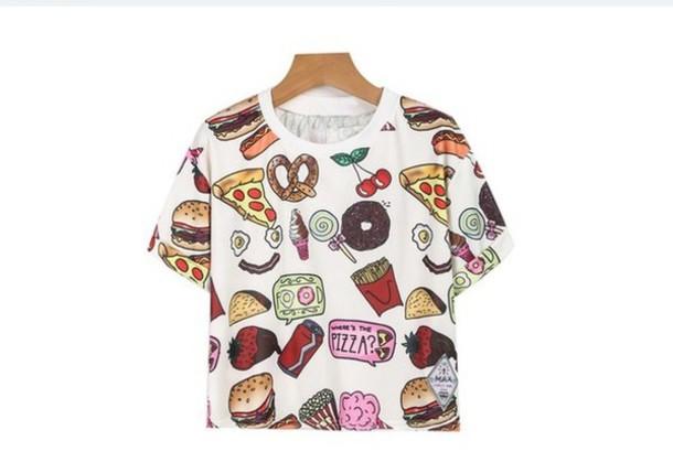 t-shirt food