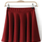 Red street ruffles skirt - sheinside.com