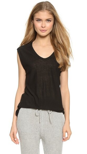 muscle tee classic black top