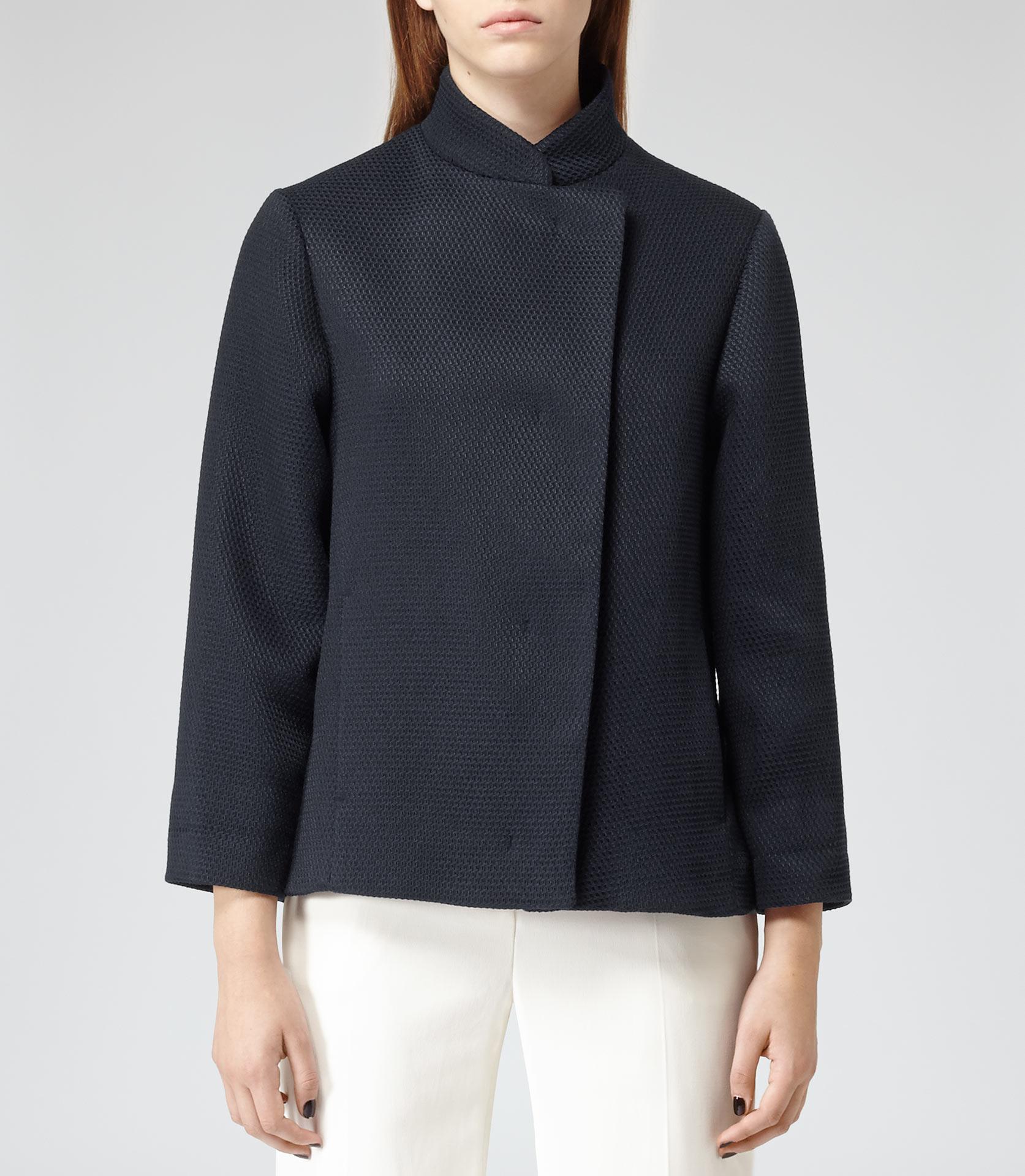 Othello lux navy textured tailored jacket