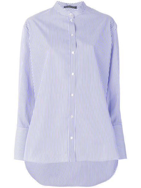 Alexander Mcqueen shirt women cotton blue top