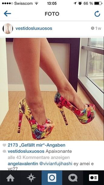 shoes high heels floral high heels pumps pumps floral