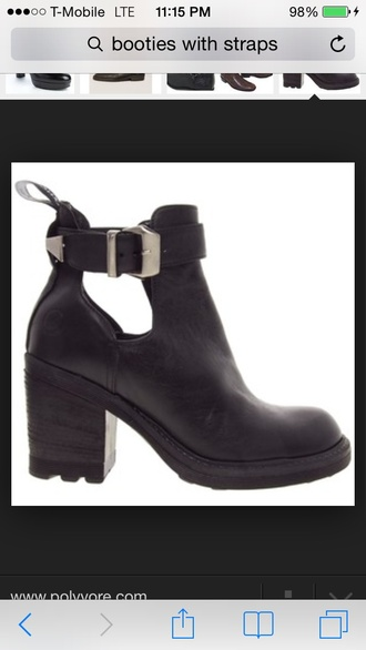 shoes booties clip pretty gold black boots heel cut out ankle boots vintage clothes