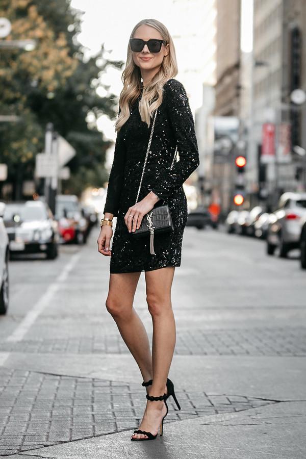 002fe277ed4 fashionjackson blogger jewels dress shoes bag sunglasses party dress party  outfits sparkly dress black dress ysl.