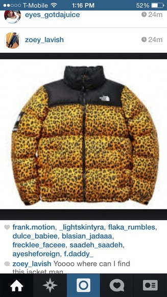 coat winter outfits north face leopard print