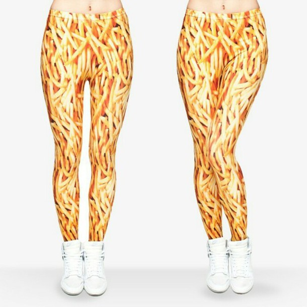 leggings fries food foodporn food yellow harajuku kawaii kawaii grunge hipster dope