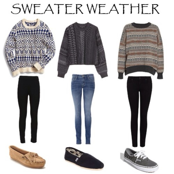 sweater fairisle patterned sweater knitted sweater knitwear shoes jeans