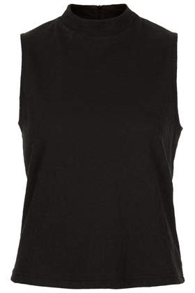 Petite High Neck Jacquard Top - Topshop