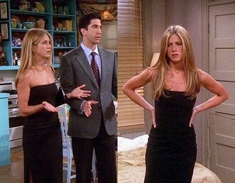 dress rachel friends black dress cocktail dress black cocktail dress thigh dress rachel green jennifer aniston