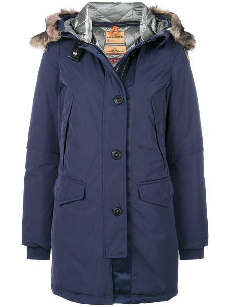 parka women blue coat