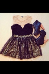 dress,shoes,little black dress,prom dress,lace,lace dress,sheer,beige dress,beige,sequins,cocktail dress,tutu,tulle skirt,high heels,black high heels,cute,cute dress,love more,new york city,don't know where to get it