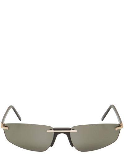 ANDY WOLF, Ophelia frameless sunglasses, Black, Luisaviaroma