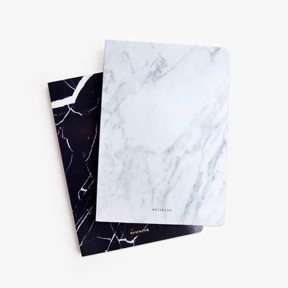 white black phone case marble marbled print notebooks