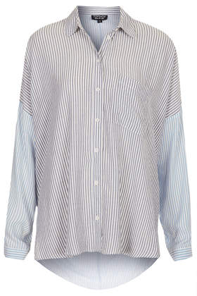 Oversized Casual Stripe Shirt - Shirts - Tops  - Clothing - Topshop