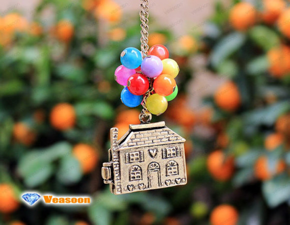 jewels up movie flying house balloon necklace