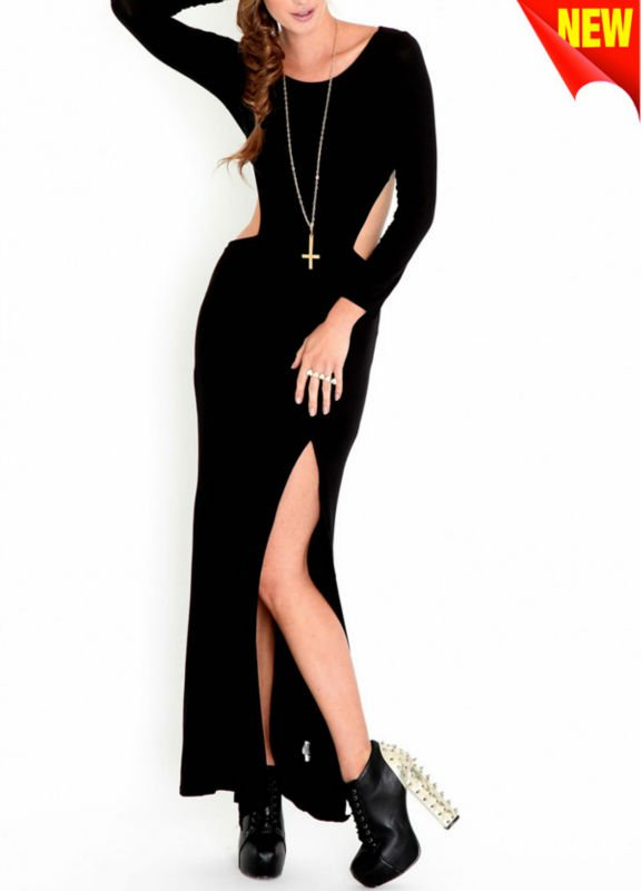 Maix Black Jersey Maxi Dress Wslit To Thigh At Front D-1228 Photo, Detailed about Maix Black Jersey Maxi Dress Wslit To Thigh At Front D-1228 Picture on Alibaba.com.