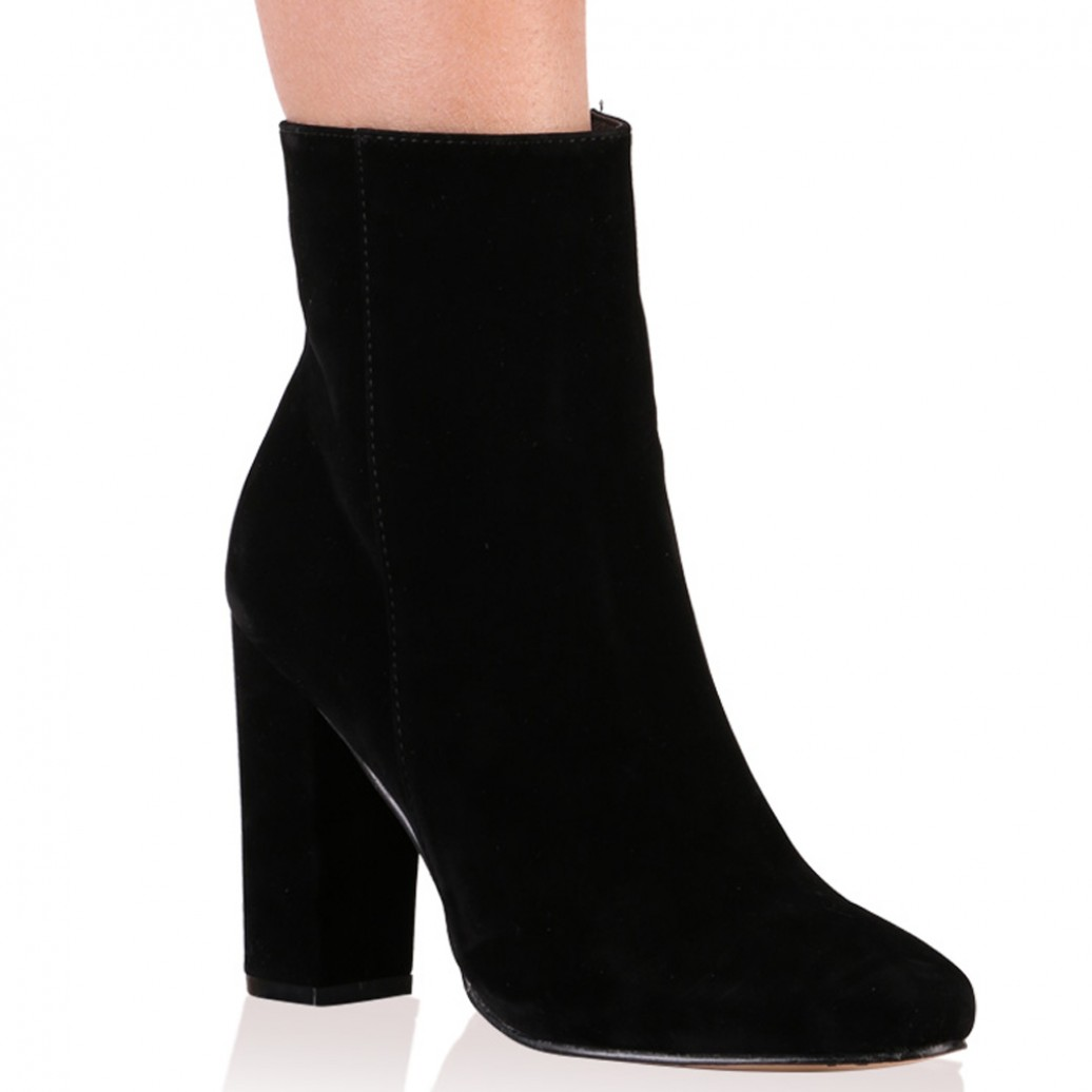 ea39d67b5 Presley Ankle Boots in Black Faux Suede